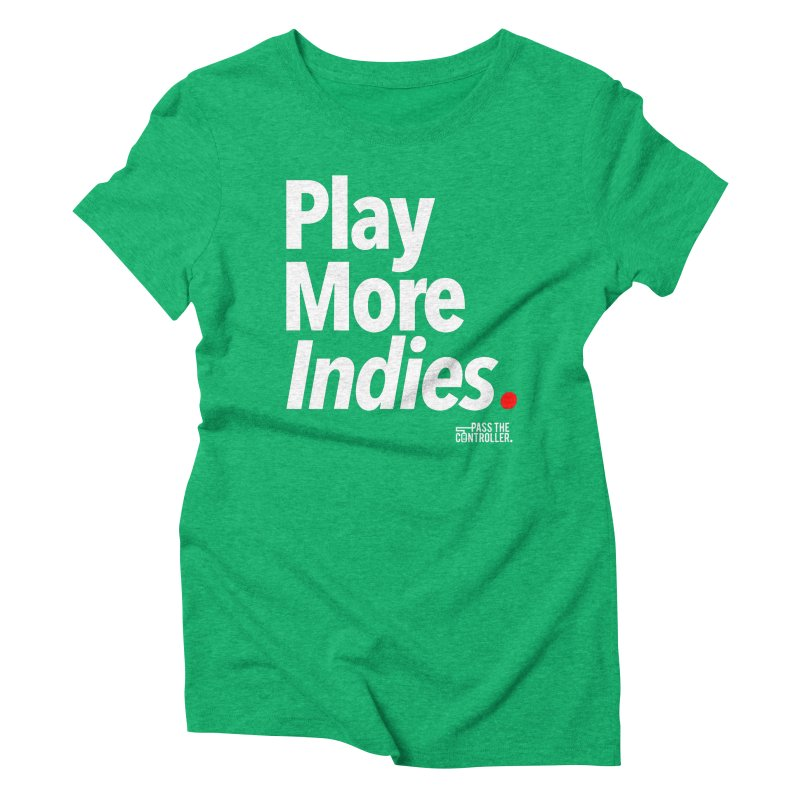 Play More Indies (Series 1) Women's Triblend T-Shirt by Official Pass The Controller Store