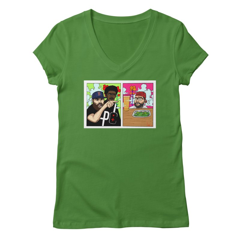PTC Bizarre Adventure: A Meme Women's Regular V-Neck by Official Pass The Controller Store