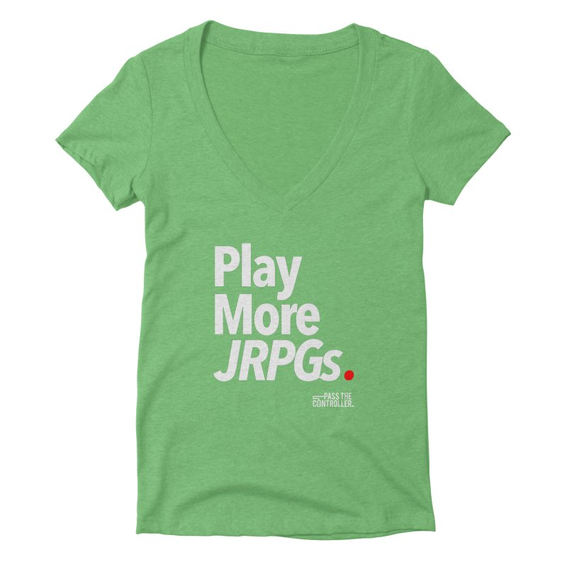Play More JRPGs (Series 1) Women's V-Neck by Official Pass The Controller Store