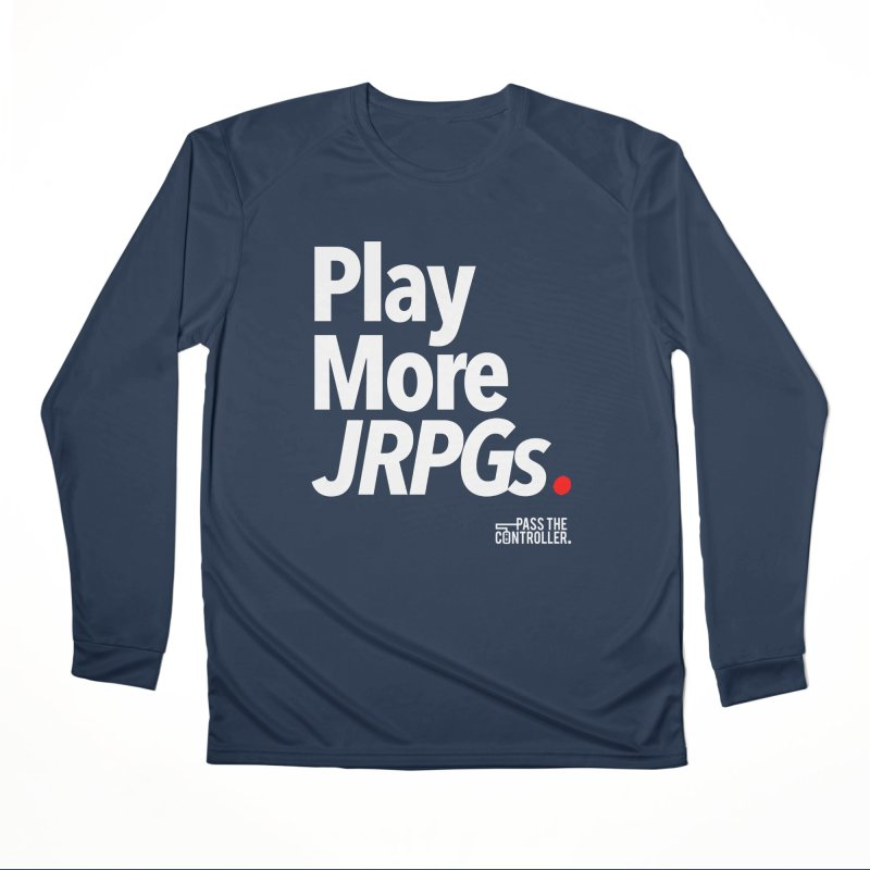 Play More JRPGs (Series 1) Men's Longsleeve T-Shirt by Official Pass The Controller Store