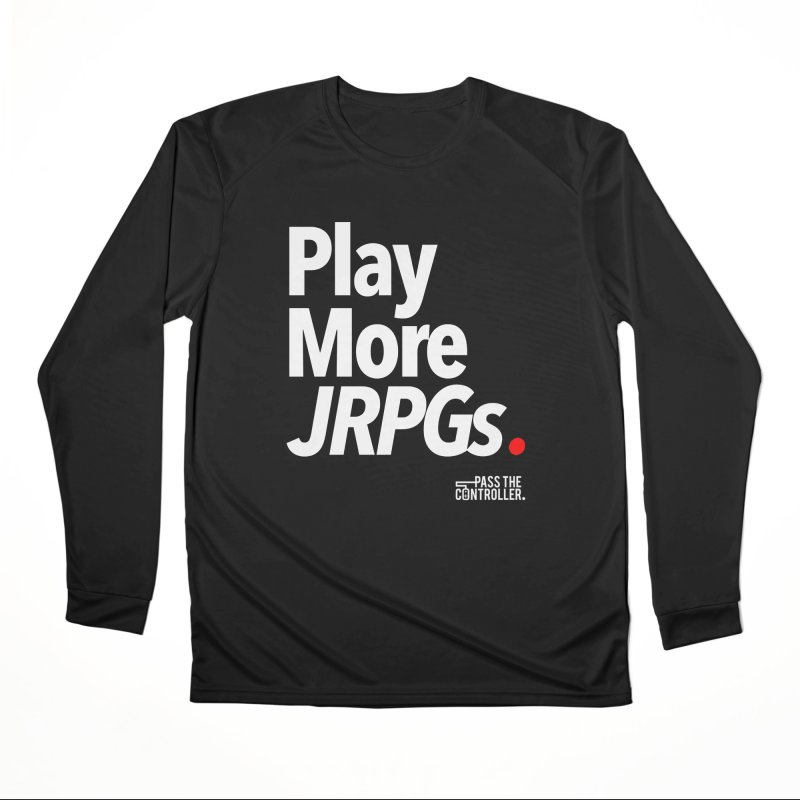 Play More JRPGs (Series 1) Men's Performance Longsleeve T-Shirt by Official Pass The Controller Store