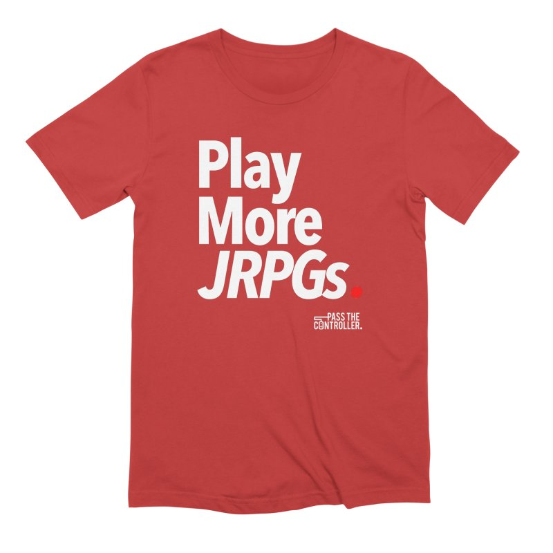 Play More JRPGs (Series 1) Men's Extra Soft T-Shirt by Official Pass The Controller Store