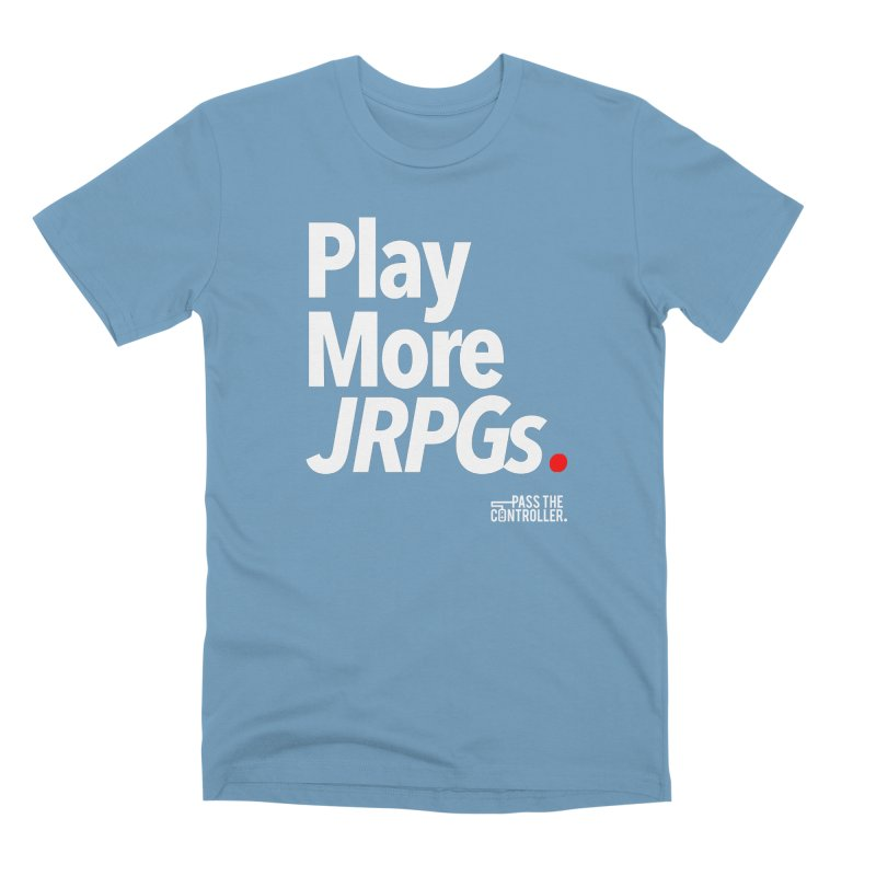 Play More JRPGs (Series 1) Men's Premium T-Shirt by Official Pass The Controller Store
