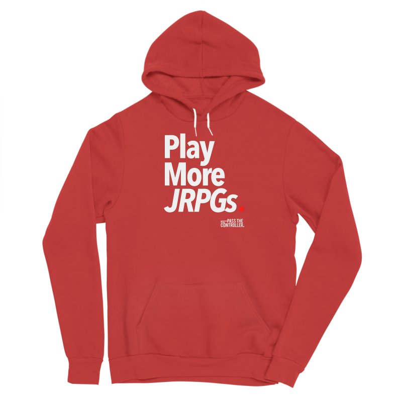 Play More JRPGs (Series 1) Men's Sponge Fleece Pullover Hoody by Official Pass The Controller Store