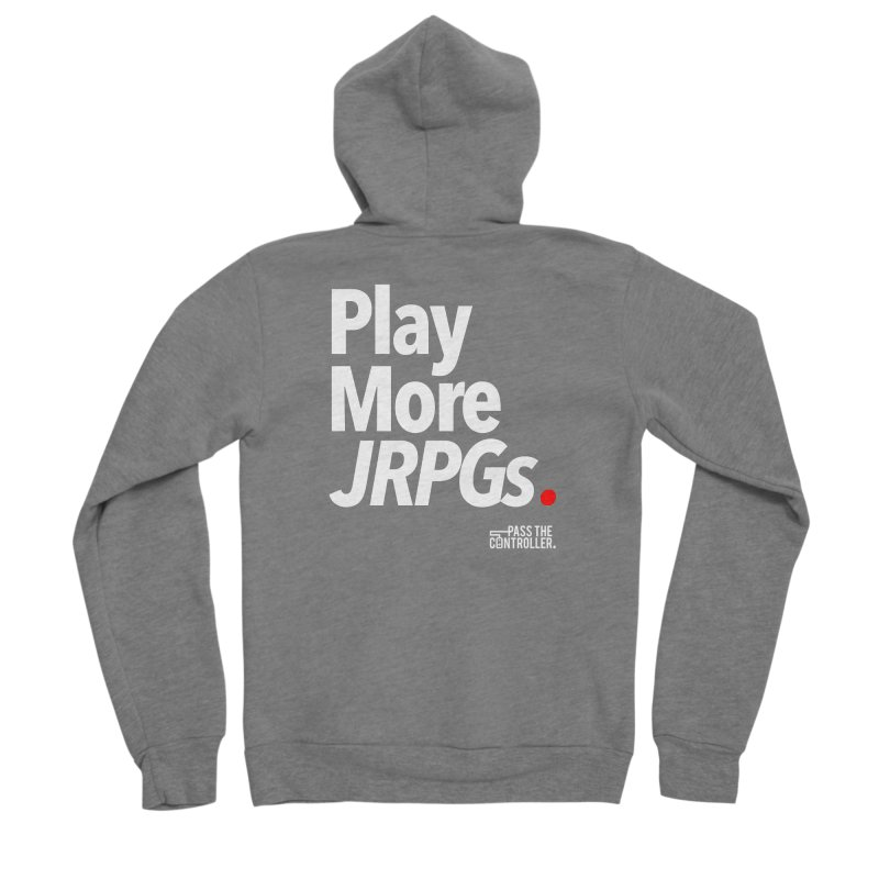 Play More JRPGs (Series 1) Men's Sponge Fleece Zip-Up Hoody by Official Pass The Controller Store