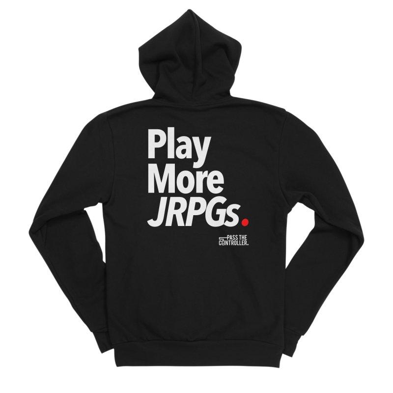 Play More JRPGs (Series 1) Men's Sponge Fleece Zip-Up Hoody by Official Pass The Controller Store