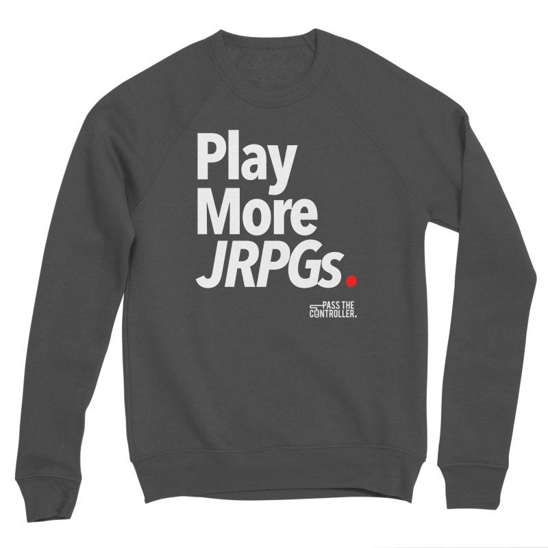 Play More JRPGs (Series 1) Men's Sponge Fleece Sweatshirt by Official Pass The Controller Store