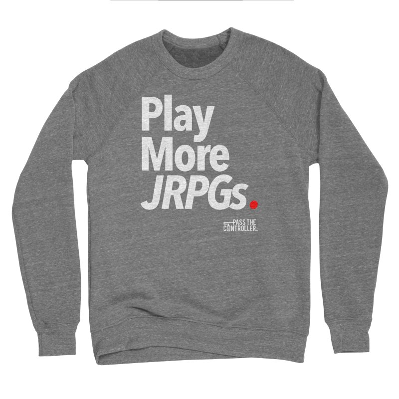 Play More JRPGs (Series 1) Men's Sponge Fleece Sweatshirt by Official Pass The Controller Store