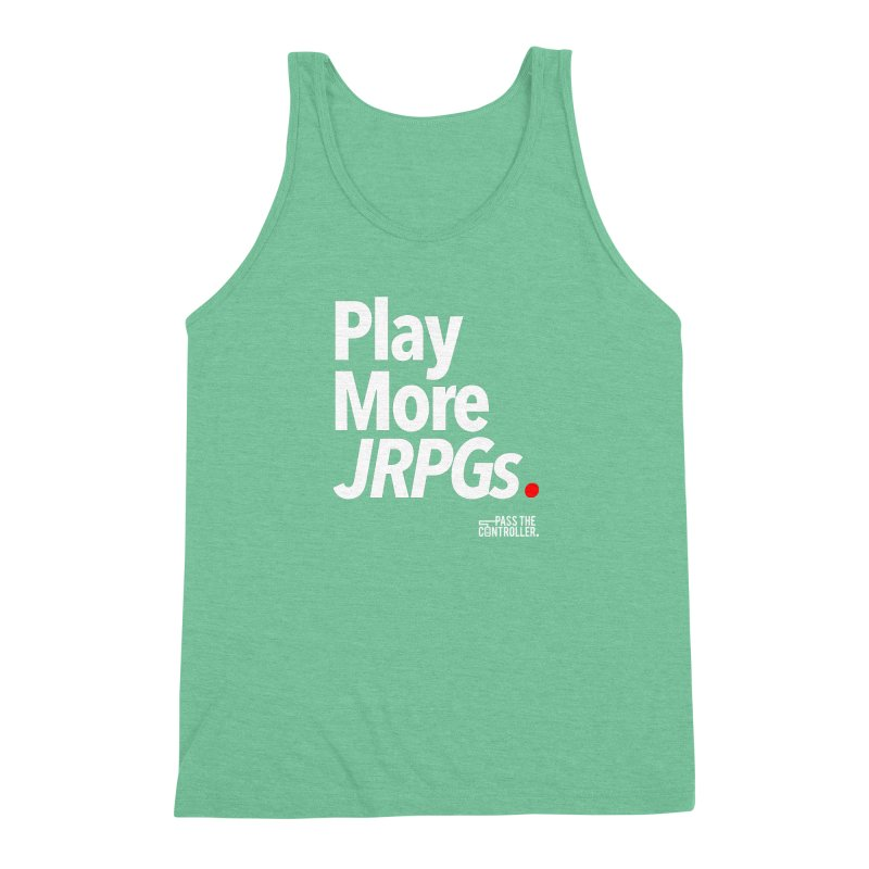 Play More JRPGs (Series 1) Men's Triblend Tank by Official Pass The Controller Store