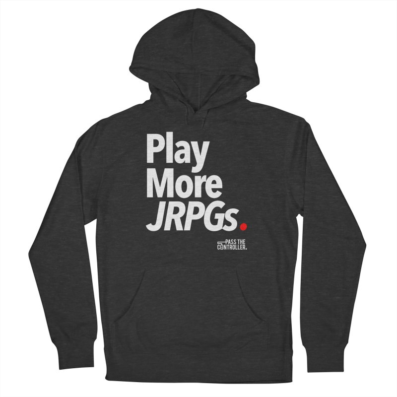 Play More JRPGs (Series 1) Men's French Terry Pullover Hoody by Official Pass The Controller Store