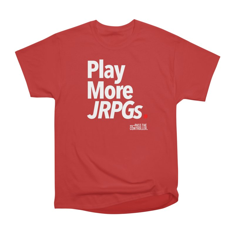 Play More JRPGs (Series 1) Women's Heavyweight Unisex T-Shirt by Official Pass The Controller Store