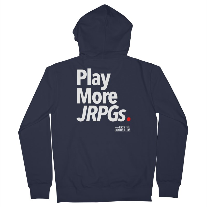 Play More JRPGs (Series 1) Men's French Terry Zip-Up Hoody by Official Pass The Controller Store