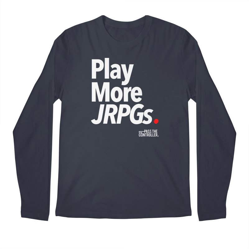 Play More JRPGs (Series 1) Men's Regular Longsleeve T-Shirt by Official Pass The Controller Store