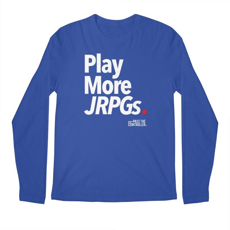 Play More JRPGs (Series 1) Men's Regular Longsleeve T-Shirt by Official Pass The Controller Store