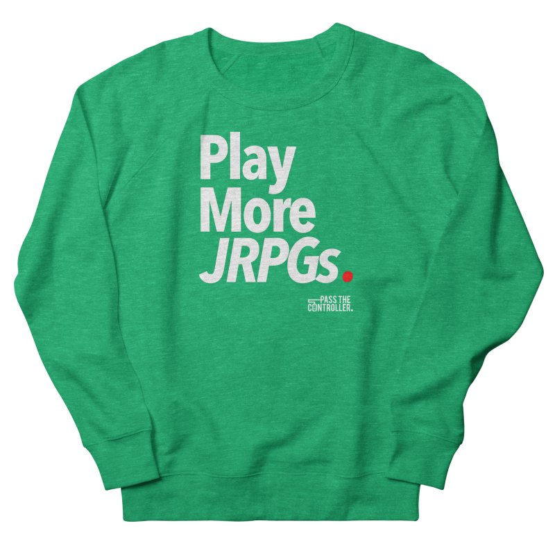 Play More JRPGs (Series 1) Men's French Terry Sweatshirt by Official Pass The Controller Store