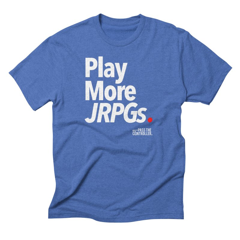 Play More JRPGs (Series 1) Men's Triblend T-Shirt by Official Pass The Controller Store