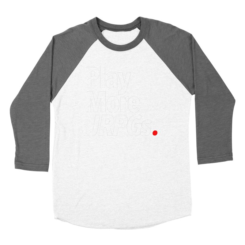 Play More JRPGs (Series 1) Men's Baseball Triblend Longsleeve T-Shirt by Official Pass The Controller Store