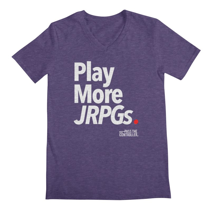 Play More JRPGs (Series 1) Men's V-Neck by Official Pass The Controller Store