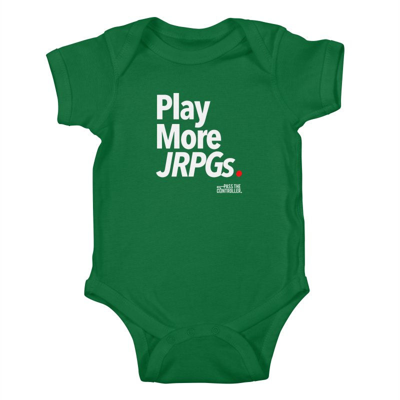 Play More JRPGs (Series 1) Kids Baby Bodysuit by Official Pass The Controller Store