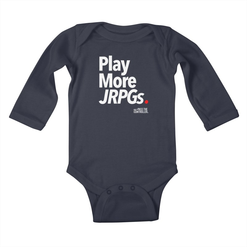 Play More JRPGs (Series 1) Kids Baby Longsleeve Bodysuit by Official Pass The Controller Store