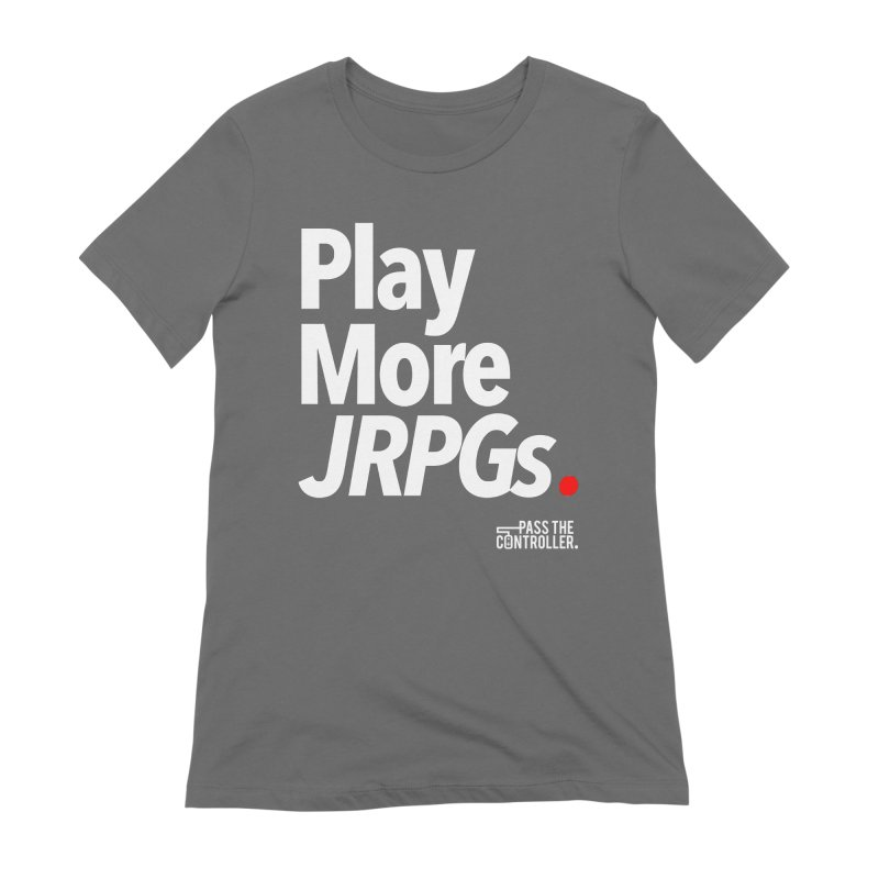 Play More JRPGs (Series 1) Women's T-Shirt by Official Pass The Controller Store