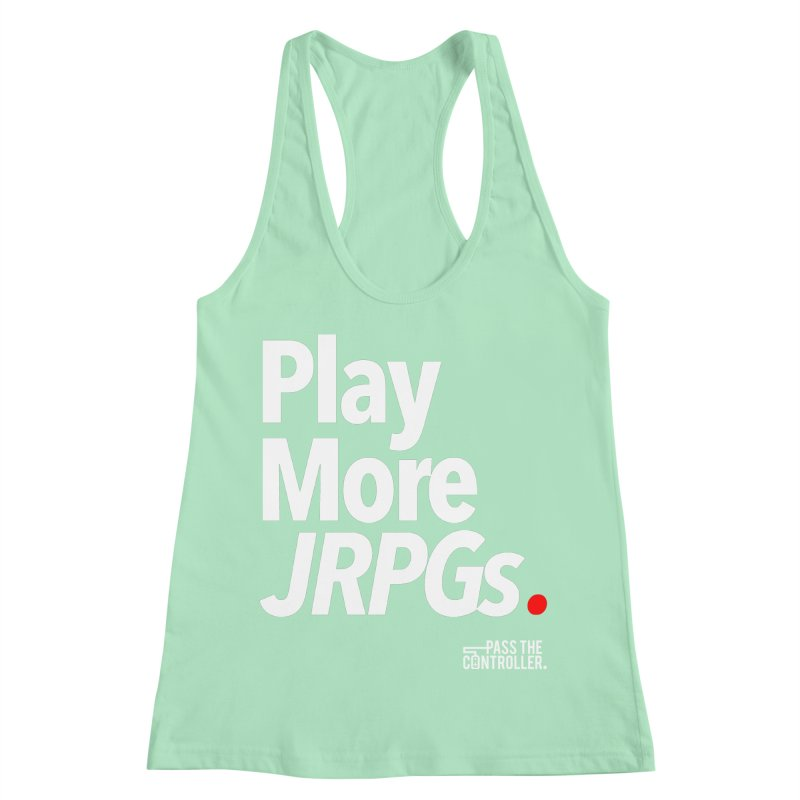 Play More JRPGs (Series 1) Women's Racerback Tank by Official Pass The Controller Store