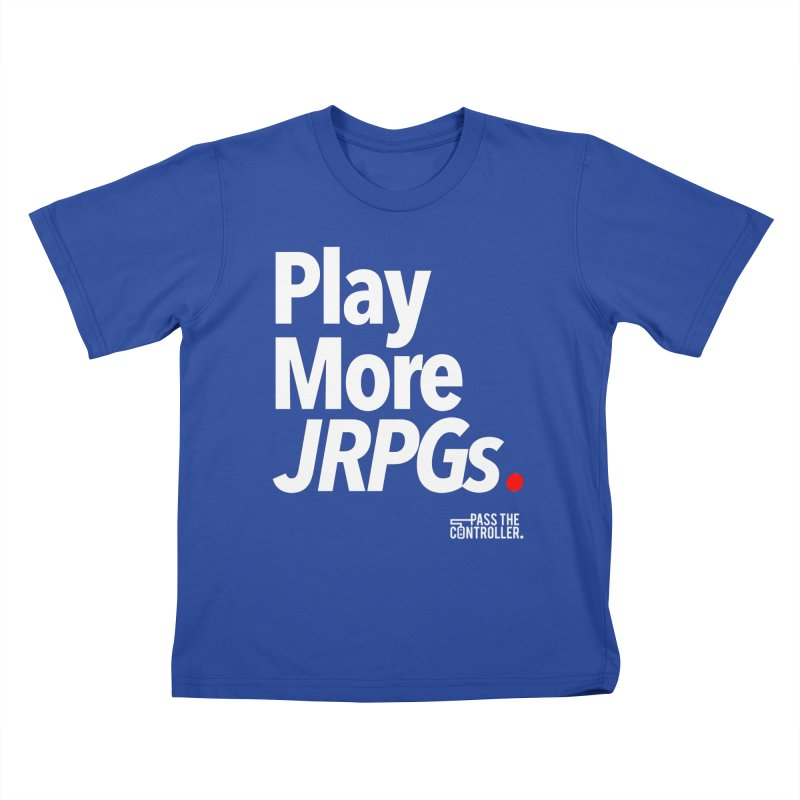 Play More JRPGs (Series 1) Kids T-Shirt by Official Pass The Controller Store