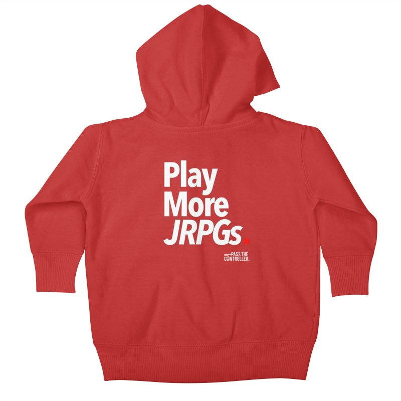 Play More JRPGs (Series 1) Kids Baby Zip-Up Hoody by Official Pass The Controller Store