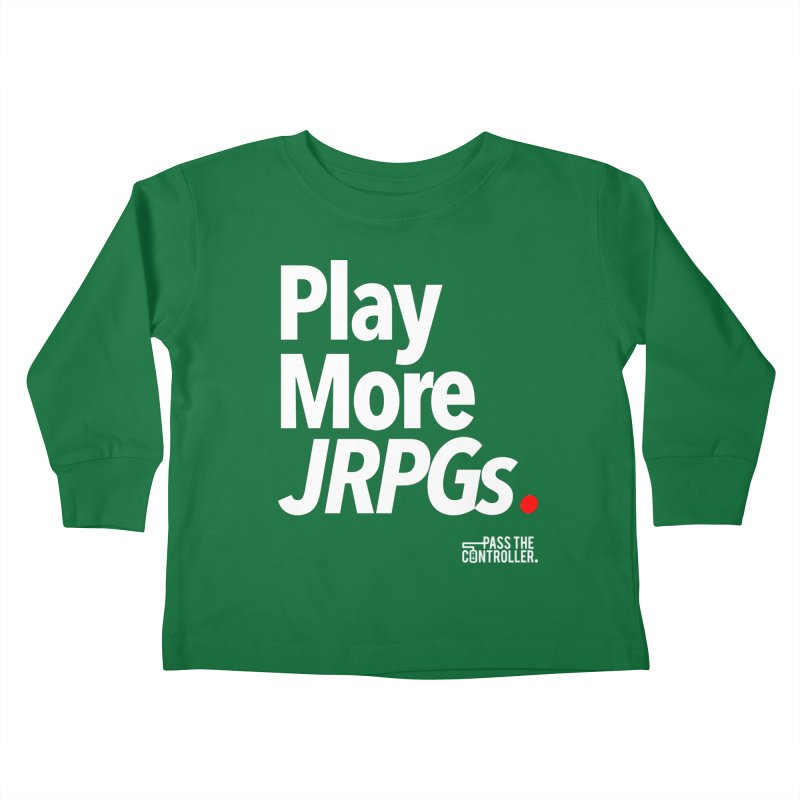 Play More JRPGs (Series 1) Kids Toddler Longsleeve T-Shirt by Official Pass The Controller Store