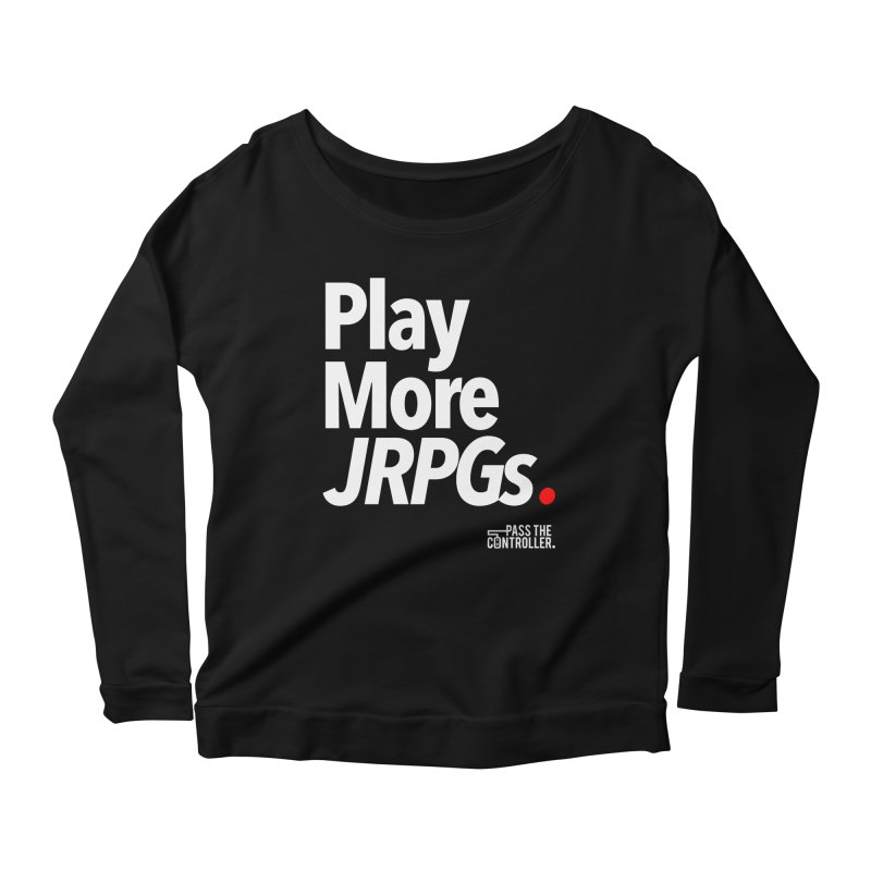 Play More JRPGs (Series 1) Women's Scoop Neck Longsleeve T-Shirt by Official Pass The Controller Store