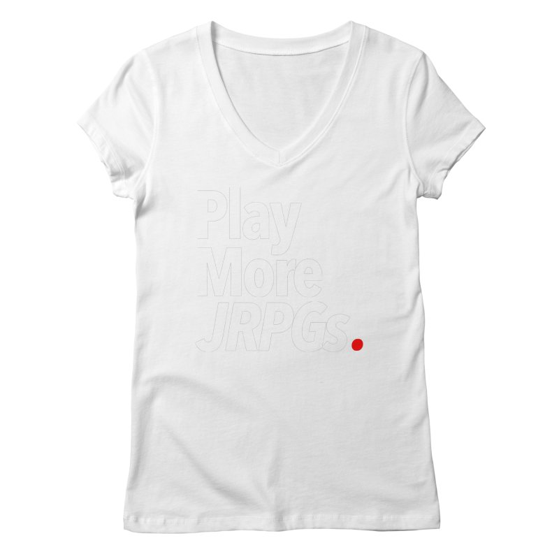Play More JRPGs (Series 1) Women's Regular V-Neck by Official Pass The Controller Store