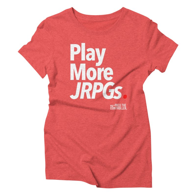 Play More JRPGs (Series 1) Women's Triblend T-Shirt by Official Pass The Controller Store