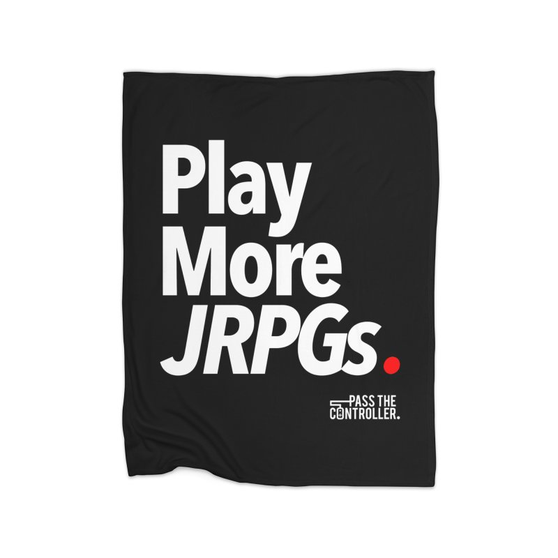 Play More JRPGs (Series 1) Home Blanket by Official Pass The Controller Store