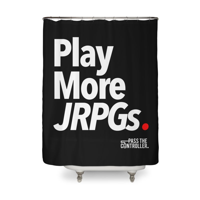 Play More JRPGs (Series 1) Home Shower Curtain by Official Pass The Controller Store