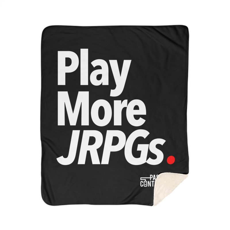 Play More JRPGs (Series 1) Home Sherpa Blanket Blanket by Official Pass The Controller Store