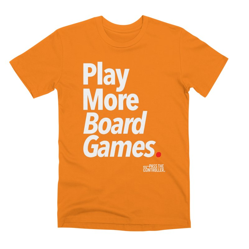 Play More Board Games (Series 1) Men's T-Shirt by Official Pass The Controller Store
