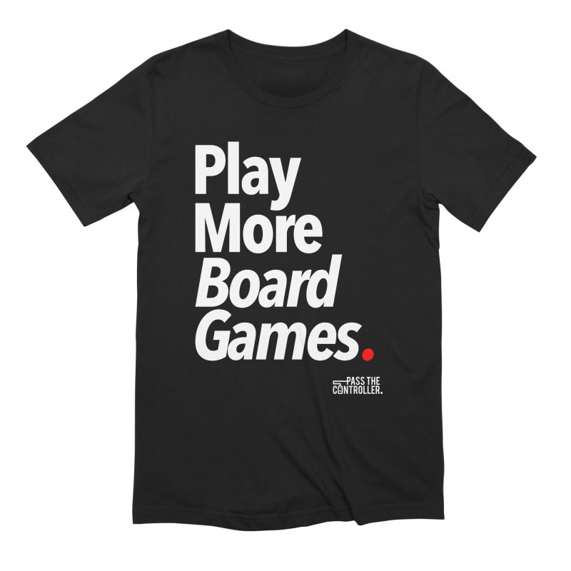 Play More Board Games (Series 1) Men's Extra Soft T-Shirt by Official Pass The Controller Store