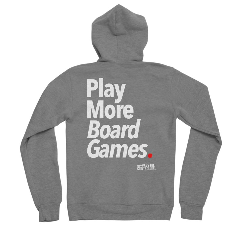 Play More Board Games (Series 1) Men's Sponge Fleece Zip-Up Hoody by Official Pass The Controller Store