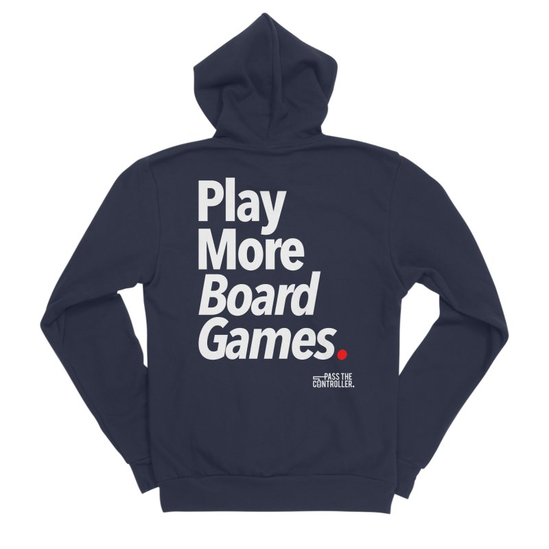 Play More Board Games (Series 1) Men's Zip-Up Hoody by Official Pass The Controller Store