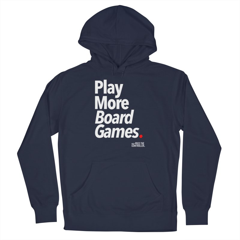 Play More Board Games (Series 1) Men's French Terry Pullover Hoody by Official Pass The Controller Store
