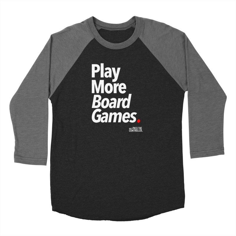Play More Board Games (Series 1) Men's Baseball Triblend Longsleeve T-Shirt by Official Pass The Controller Store