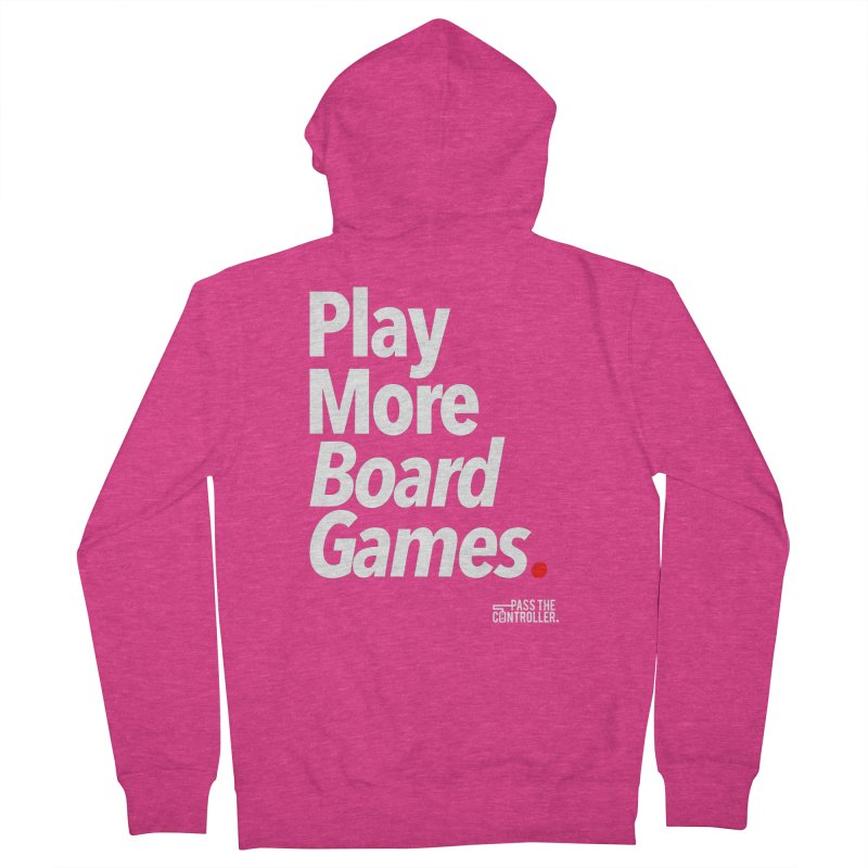Play More Board Games (Series 1) Women's Zip-Up Hoody by Official Pass The Controller Store