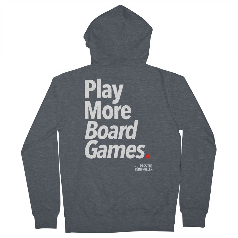 Play More Board Games (Series 1) Men's French Terry Zip-Up Hoody by Official Pass The Controller Store