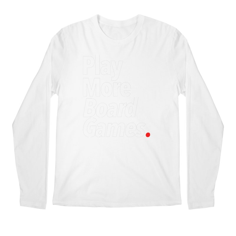 Play More Board Games (Series 1) Men's Regular Longsleeve T-Shirt by Official Pass The Controller Store