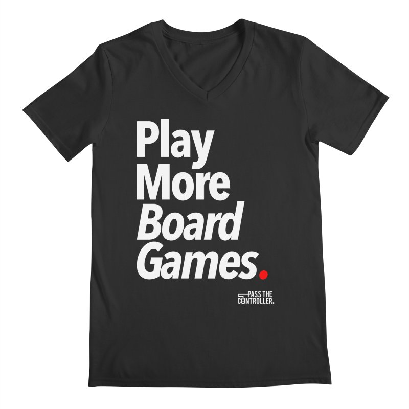 Play More Board Games (Series 1) Men's Regular V-Neck by Official Pass The Controller Store