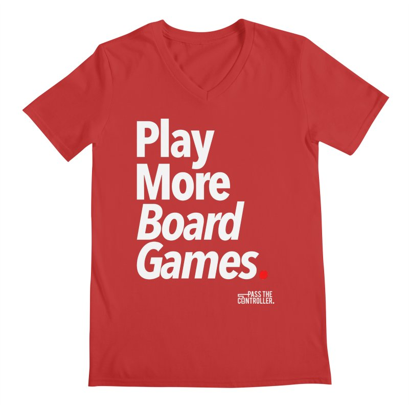 Play More Board Games (Series 1) Men's V-Neck by Official Pass The Controller Store