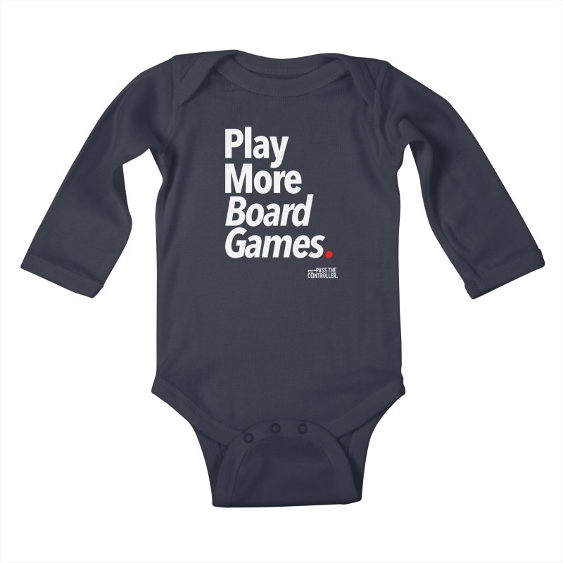 Play More Board Games (Series 1) Kids Baby Longsleeve Bodysuit by Official Pass The Controller Store