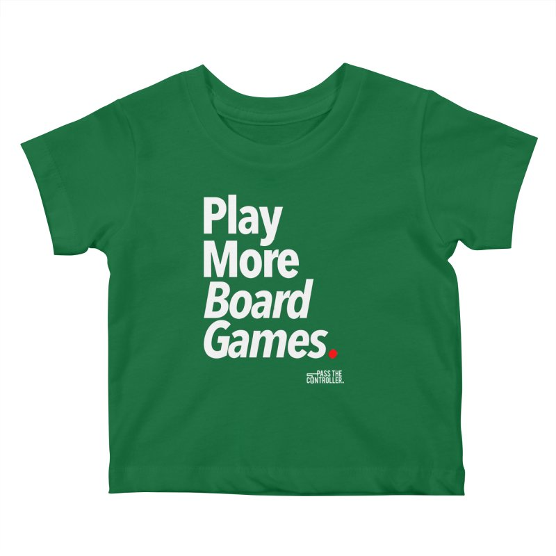Play More Board Games (Series 1) Kids Baby T-Shirt by Official Pass The Controller Store