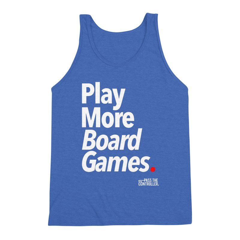 Play More Board Games (Series 1) Men's Tank by Official Pass The Controller Store