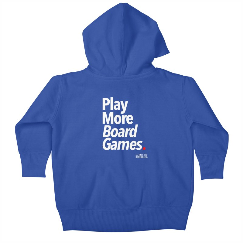 Play More Board Games (Series 1) Kids Baby Zip-Up Hoody by Official Pass The Controller Store
